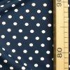 714 Bílé puntíky 0,7cm na tmavě modré 2