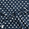 714 Bílé puntíky 0,7cm na tmavě modré
