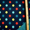 Zimní softshell - Puntíky na tmavě modré