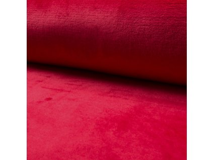 1781 Corel fleece Wellsoft Červená
