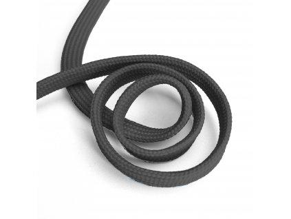 1821 Oděvní šňůra plochá, 10mm tmavě šedá