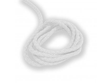 Oděvní šňůra kulatá PES, 4mm Bílá 2057