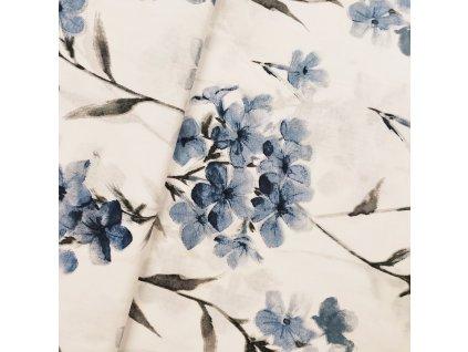 Plátno - Olověnec, modrá š. 160