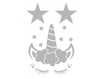 219 Reflexní obrázek Jednorožec s hvězdičkama