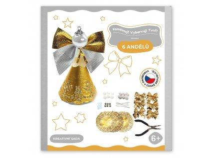 Tvořivé sady pro děti, vánoční andělíčci Zlatá