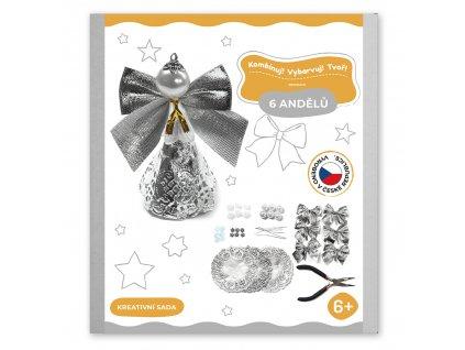 Tvořivé sady pro děti, vánoční andělíčci střibrna