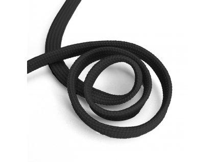 941 Oděvní šňůra plochá, 10mm černá