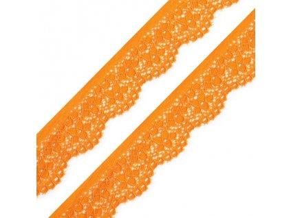 elastická krajka oranžová