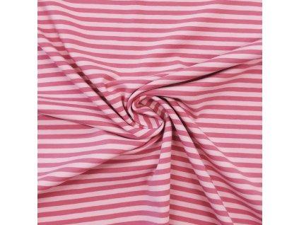 Úplet - Pruhy, růžová