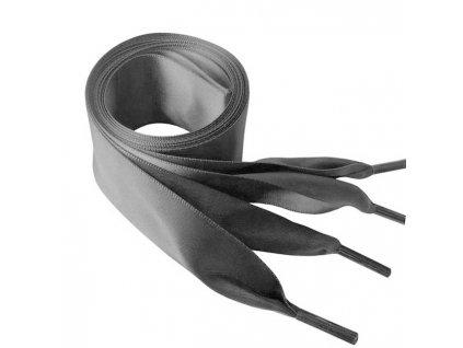 1428 Saténové tkaničky do mikin, 110cm šedá