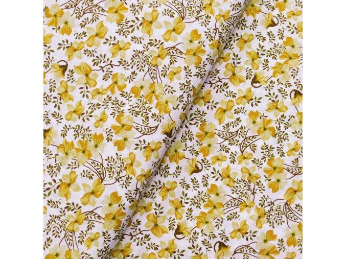Plátno - Květy, okr