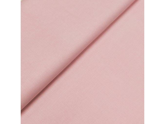 Plátno - Drobný proužek, růžová