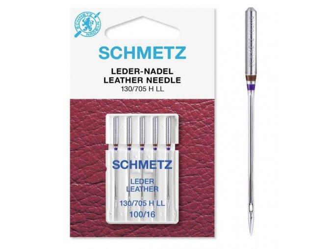 1770 Jehly Schmetz strojové 705 H LEDER 100 pro šití kožených materiálů
