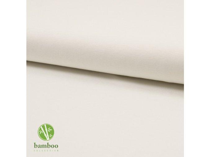 1773 Bambusový úplet 240g Smetanová
