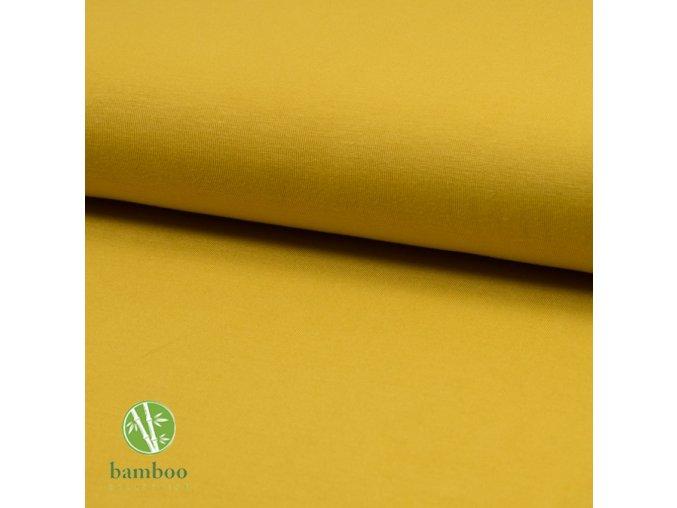 1774 Bambusový úplet 240g Okrová