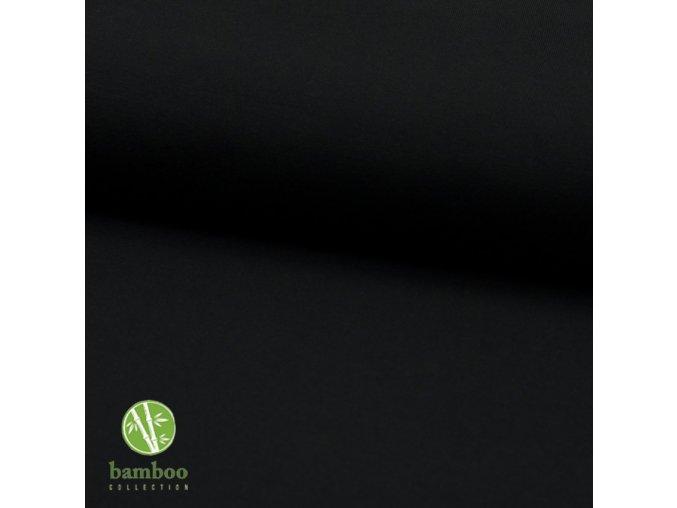 2088 Bambusový úplet 230g Černá