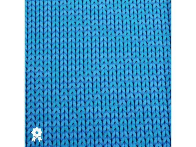 570 Modrá pletenina