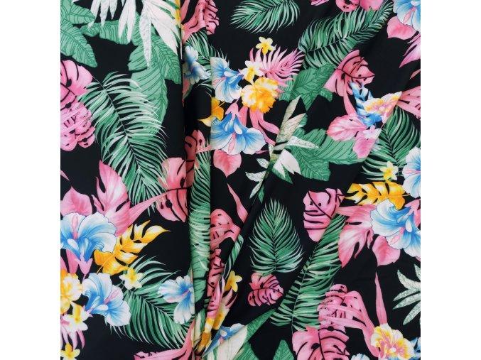 Umělé hedvábí   Silky - Exotické květy, listy