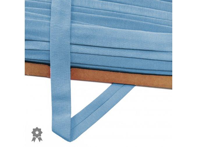 2024 Úpletový, šikmý proužek 20 mm zažehlený Jeans