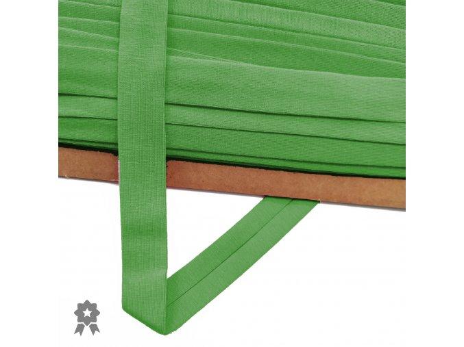 2025 Úpletový, šikmý proužek 20 mm zažehlený Zelená