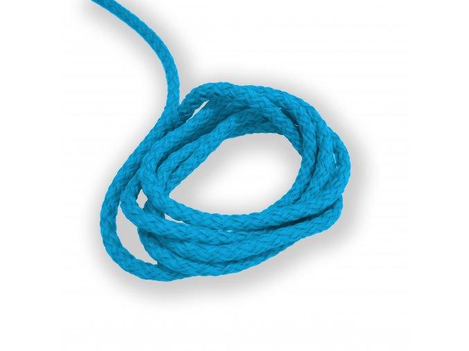 Oděvní šňůra kulatá PES, 4mm Modrá 2058