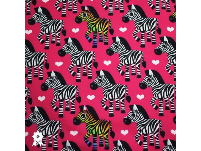 652 Zebry na tmavě růžová