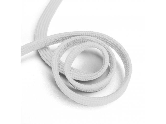 1130 Oděvní šňůra plochá, 10mm bílá