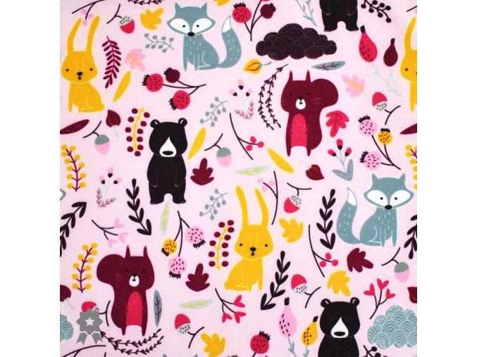 761 lesní zvířátka na růžové