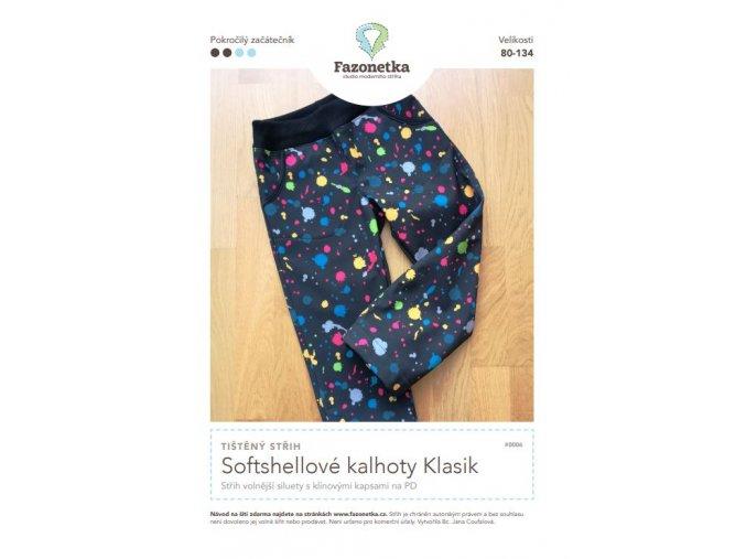 softshellové kalhoty klasik