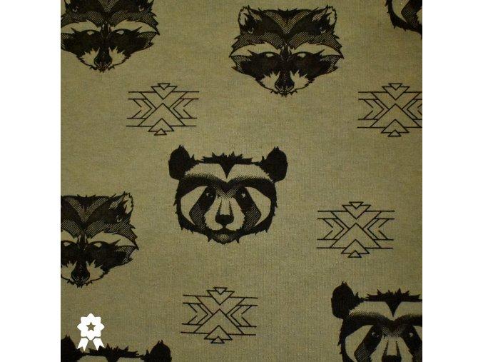 912 Panda&Mýval na khaki