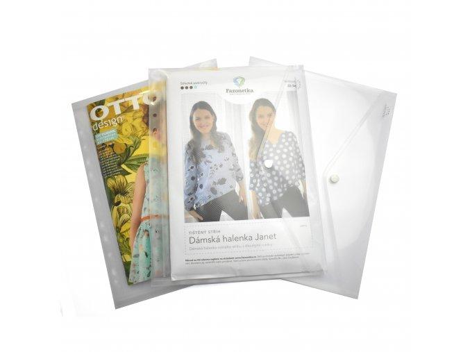 999 Desky s drukem na střihy, A4, euroděrování průhledné
