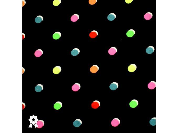1007 Neonové, puntíky na modré