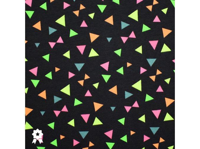 1009 Neonové, trojúhelníky na modré