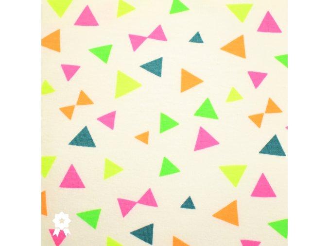 1008 Neonové, trojúhelníky na smetanové