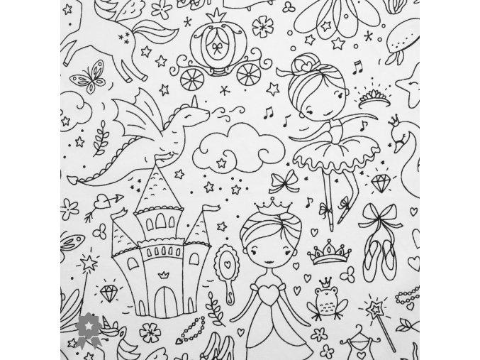 Plátno, omalovánka - Pohádková