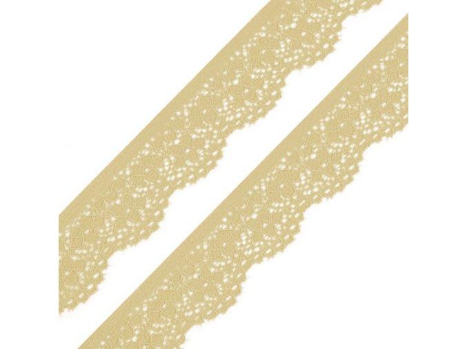elastická krajka vanilková