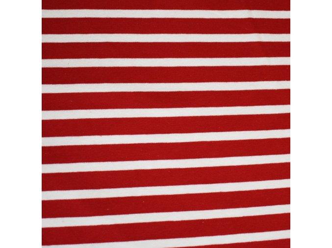 1324 Teplákovina Námořnické červené pruhy