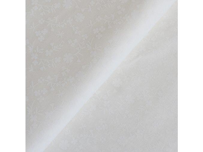 1339 Plátno Bílé kytičky na smetanové