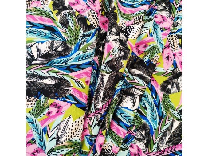 Umělé hedvábí   Silky - Květy s pírky