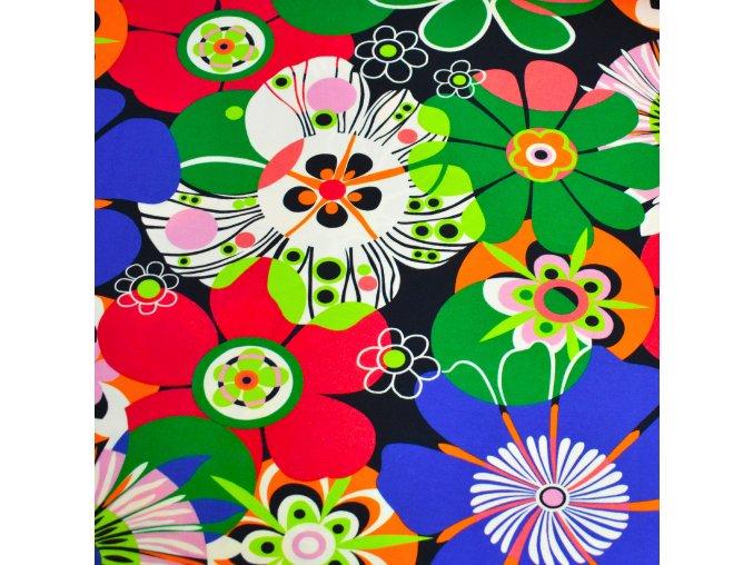 1409 Viskoza Barevné květy