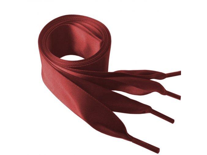1434 Saténové tkaničky do mikin, 110cm červená
