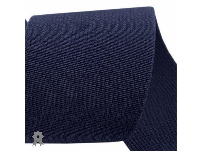 1455 Pruženka prádlová hladká tmavě modrá šíře 5cm