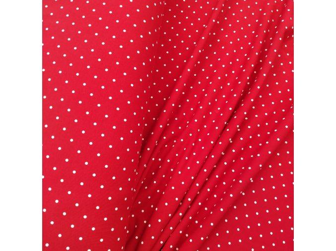 Teplákovina - Puntíky na červené