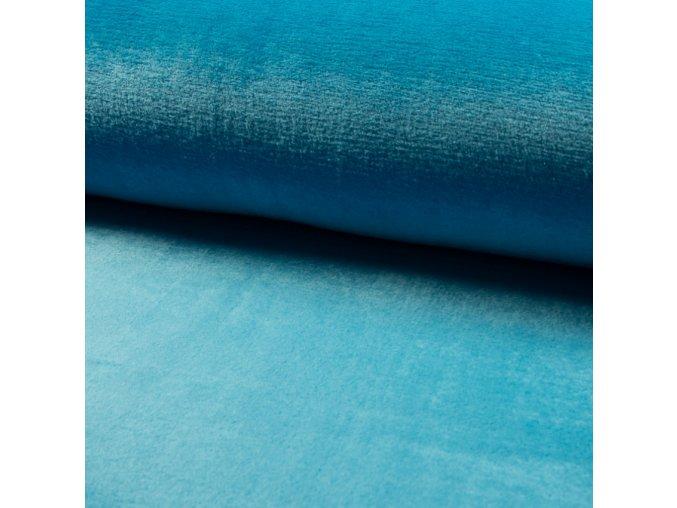 1524 Corel fleece Wellsoft Modrá, oceán