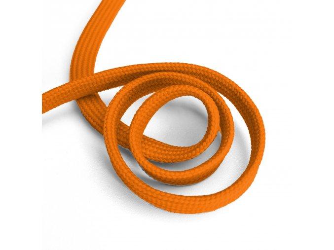 1560 Oděvní šňůra plochá, 10mm oranžová