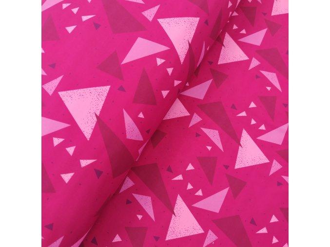 Zimní softshell - Růžové trojúhelníky