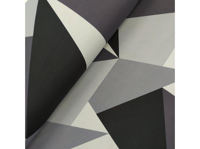 Zimní softshell - Trojúhelníkový maskáč - šedá