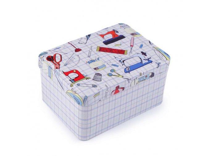 1571 Plechová krabička na šití I.