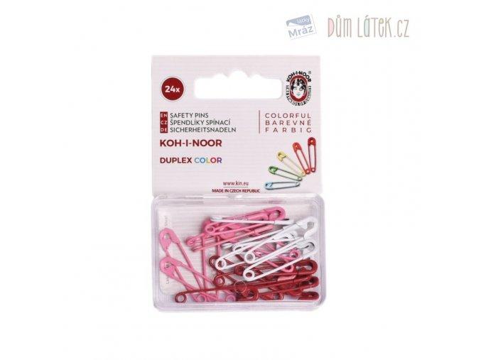 1579 Spínací špendlíky Duplex Color Růžová mix