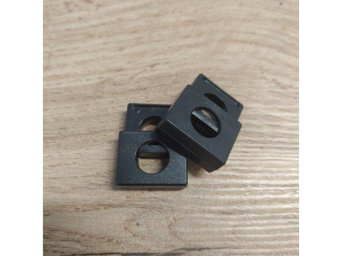 Brzdička, plastová na kulatou šňůrku 9mm - černá